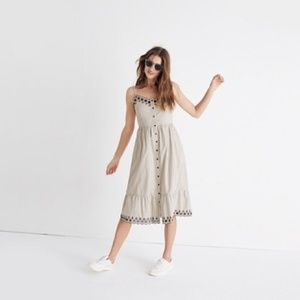 NWOT Madewell Embroidered Jardin Midi Dress 0